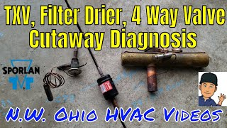 TXV Filter Drier And 4 Way Valve Cutaway - Why Did It Fail?