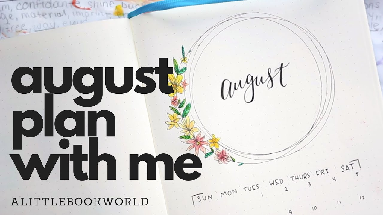 August plan with me bullet journal 2017 youtube for Plan me