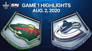 NHL Highlights   Wild vs. Canucks, Game 1 – Aug. 2, 2020