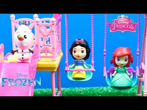 Princesas Disney Ariel y Blancanieves van al parque   Sobres Sorpresa Frozen y Princesas Disney