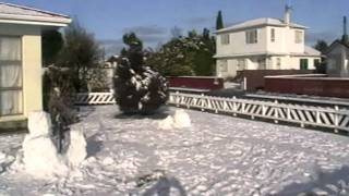 Snow Levin NZ. Vogel st and Featherston st