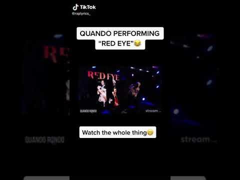 Quando rondo red eye live performance