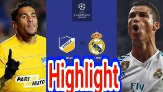 Apoel Nicosia vs Real Madrid 0-6 All Goal and Highlight 21-11-2017 HD