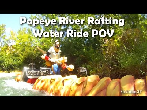 [HD] Popeye Water Ride - Popeye and Bluto's Bilge-Rat Barges - Islands of Adventure