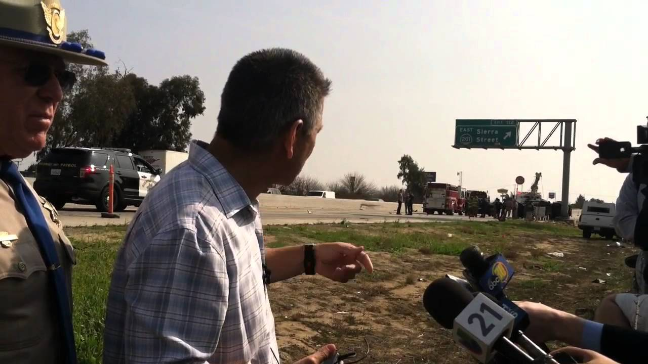 CHP Commissioner Joe Farrow Describes Highway 99 Crash That Killed Two Officers