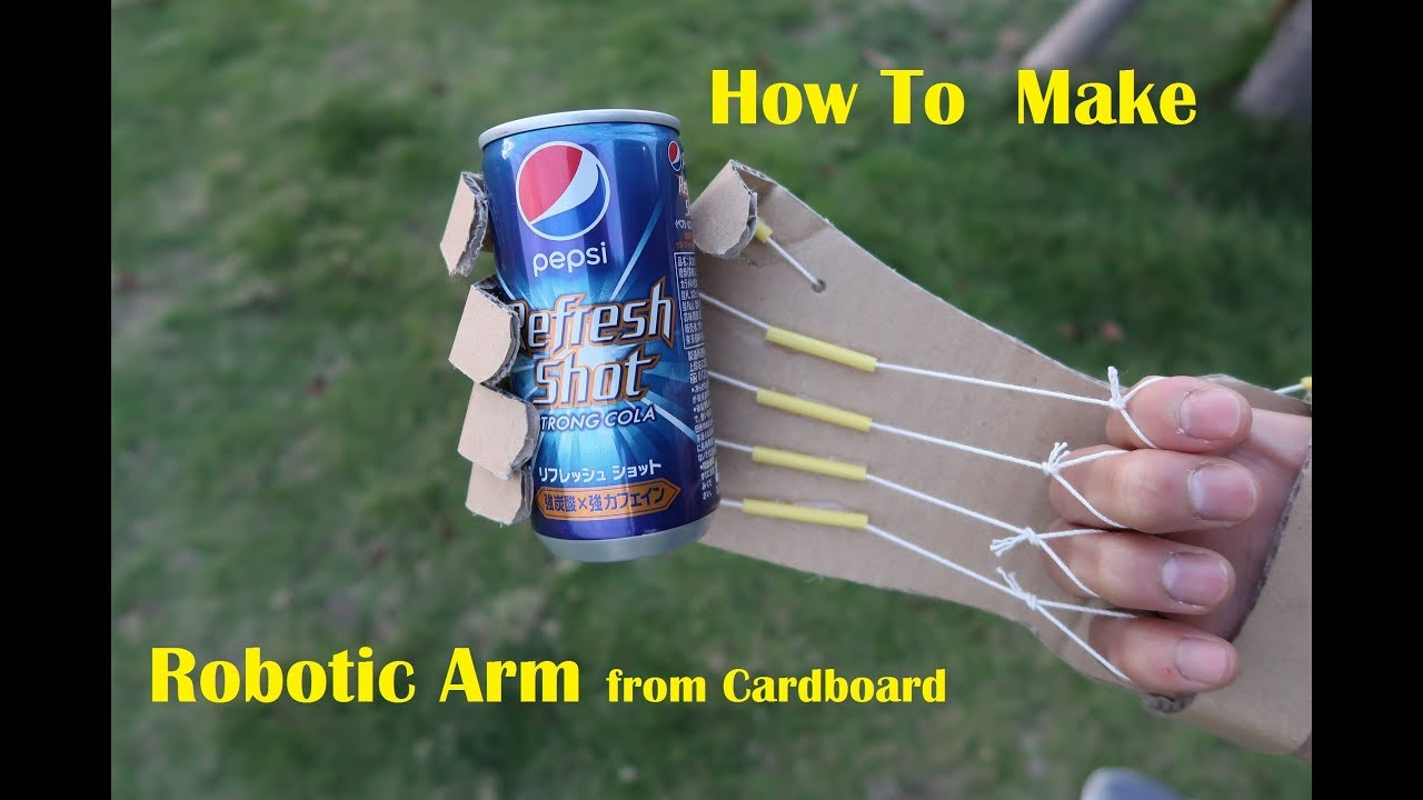 How To Make a Home made Robotic ARM from Cardboard - SANG-ADAM