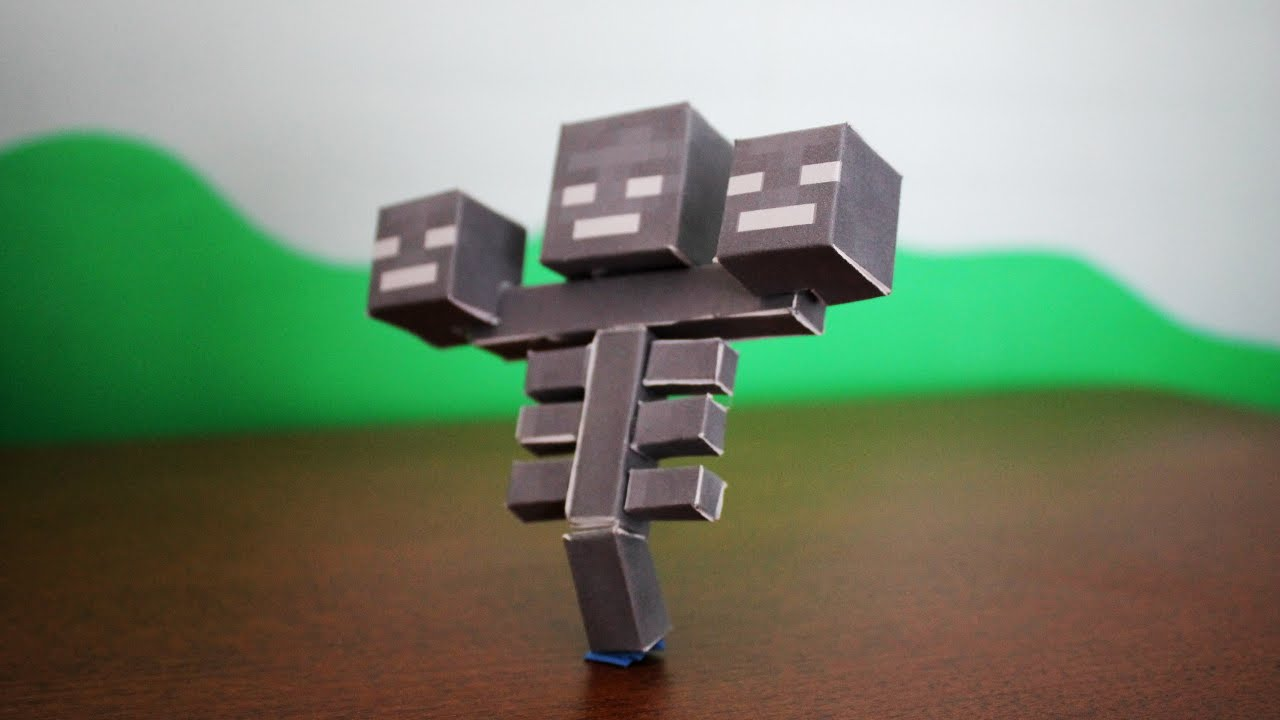 How To Make The Minecraft Paper Wither Youtube