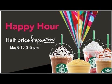 Starbucks Happy Hour: Half off Frappuccinos on Thursday