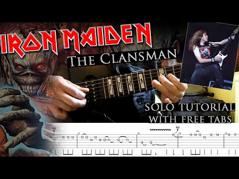 Iron Maiden - The Clansman Janick Gers's Guitar Solo Lesson (with Tablatures And Backing Tracks)