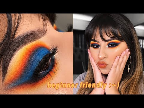colorful cut crease eyshadow tutorial - james charles x morphe palette thumbnail