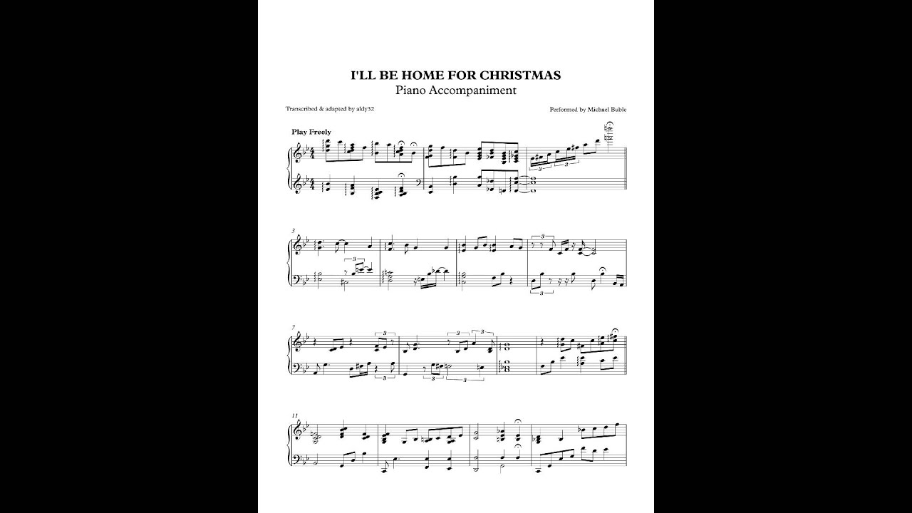 I\'ll Be Home For Christmas - Michael Buble (Piano Accompaniment) by ...