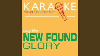 Failure's Not Flattering (In the Style of New Found Glory) (Karaoke Instrumental Version)