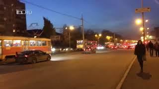 На Уральской образовалась пробка из трамваев