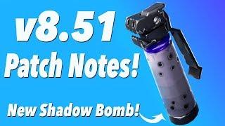 v8.51 Patch Notes! (FORTNITE)