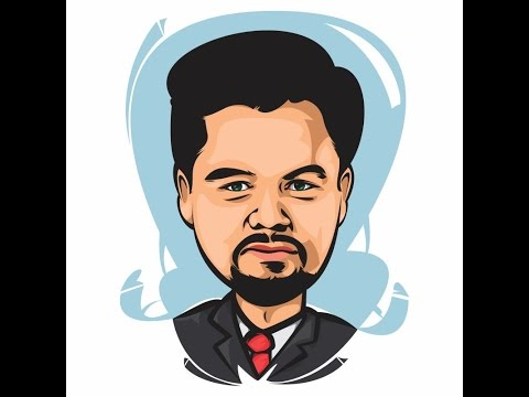 HOW TO DRAW SIMPLE CARICATURE WITH COREL DRAW | LEONARDO DCPRIO