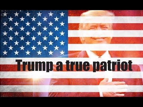 President Donald Trump an American patriot tribute