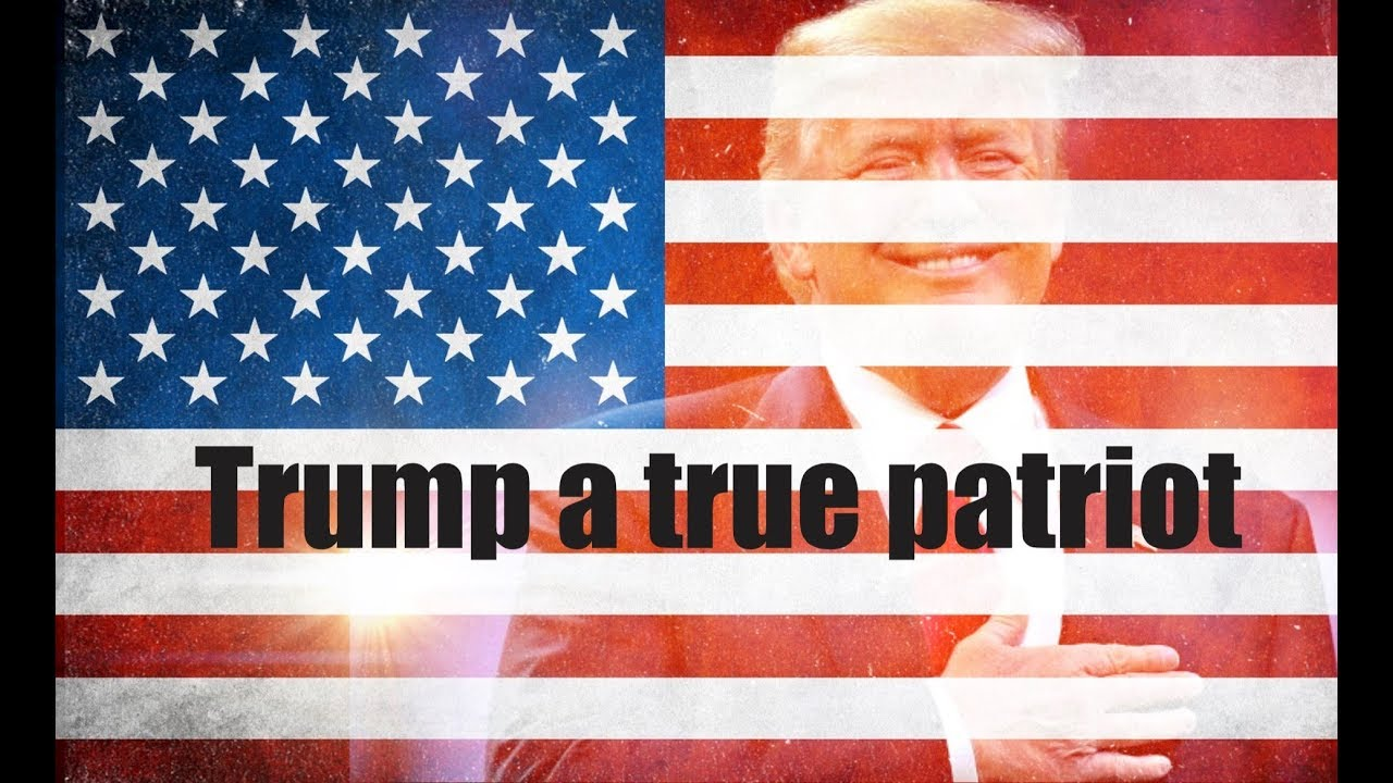 President Donald Trump an American patriot tribute