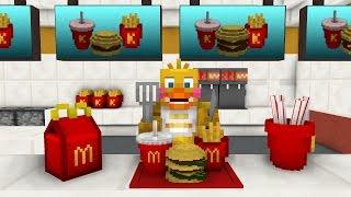 FNAF Monster School: Working at McDonalds - Minecraft Animation