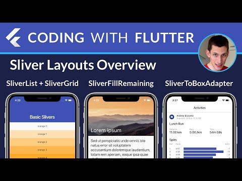 Flutter Slivers Overview: SliverList, SliverGrid, SliverToBoxAdapter, SliverFillRemaining