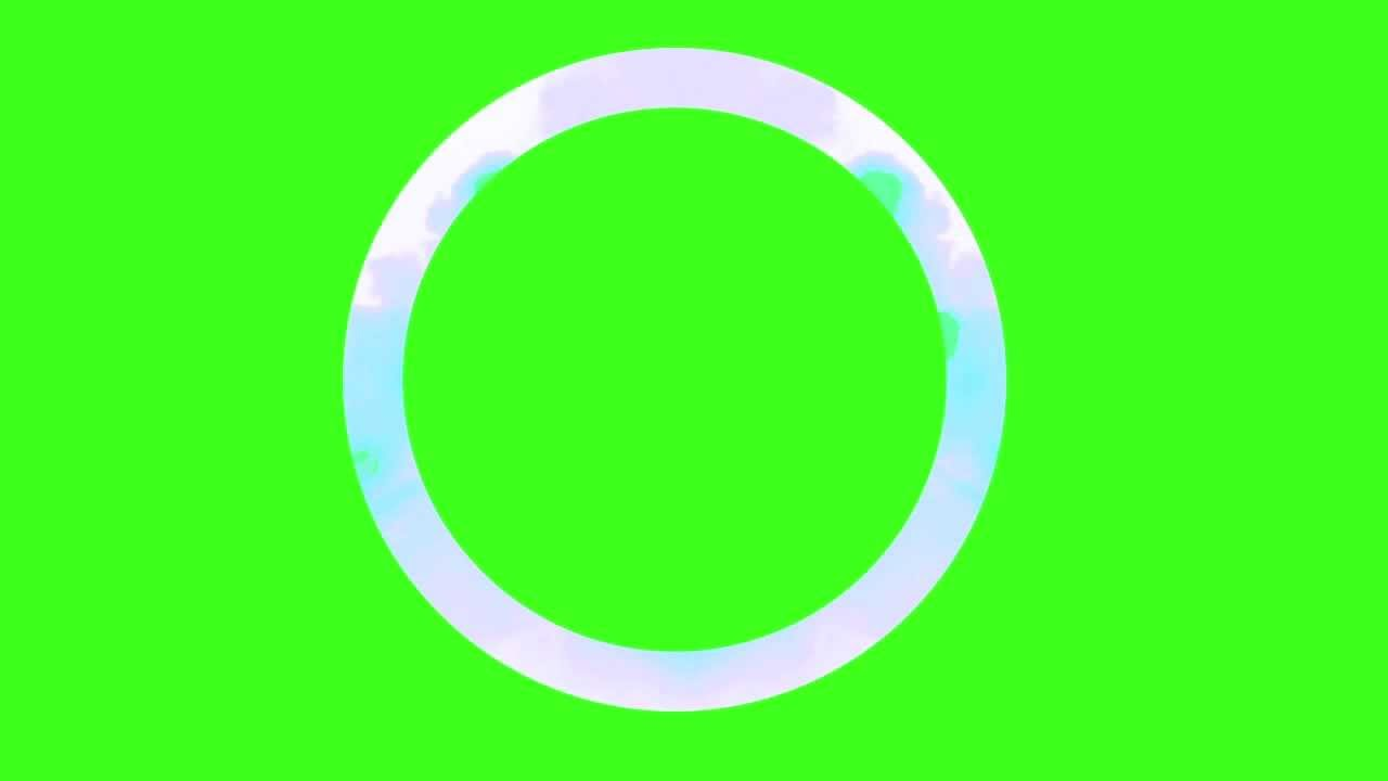 Circle Glitch Frame – Green Screen   Free Stock Footage Archive