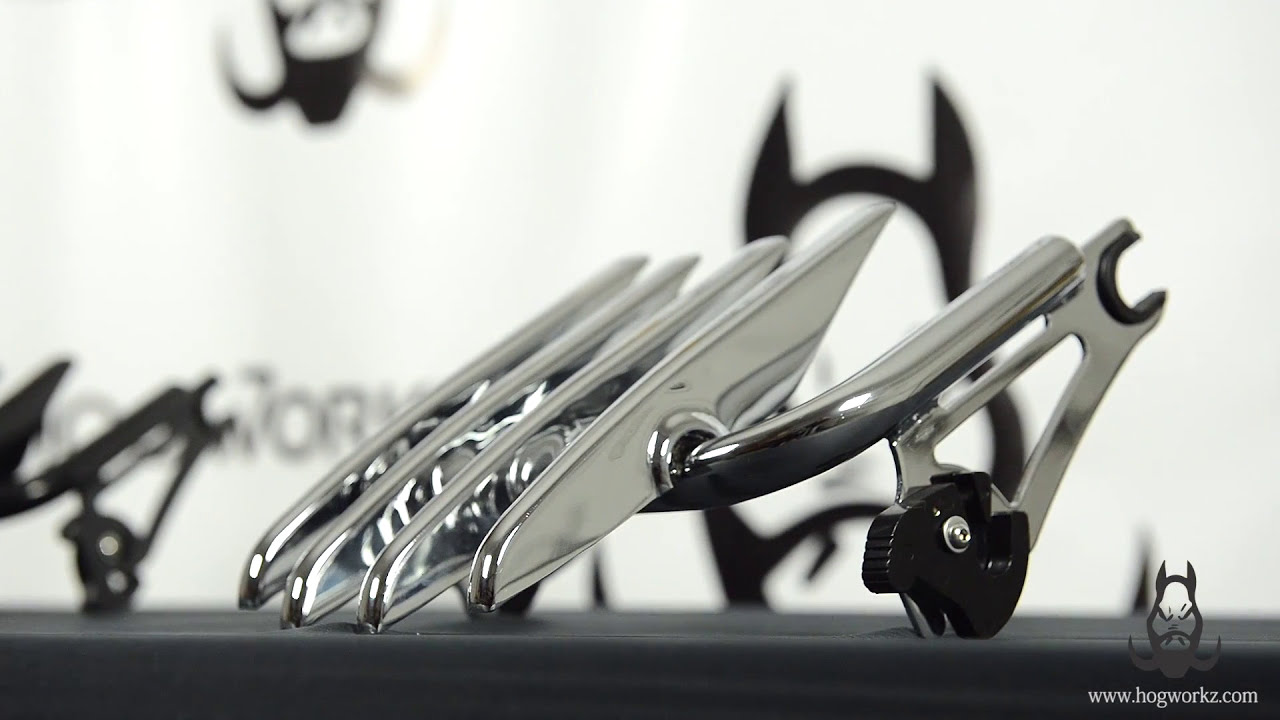 Hogworkz Detachable Stealth Luggage Rack For 09 Harley