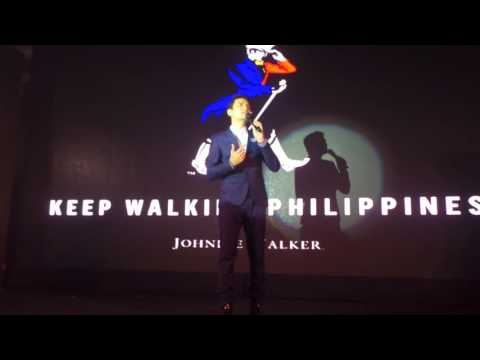 Christian Bautista Performs at Keep Walking Philippines Event