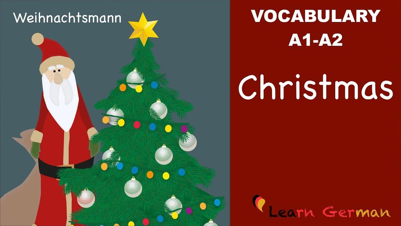 Weihnachtskarten Plus.Learn German German Vocabulary Weihnachten Christmas A1 A2