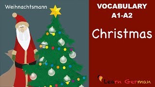 Learn German | German Vocabulary | Weihnachten | Christmas | A1 | A2