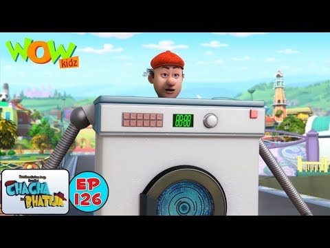 Chacha bana washing machine  Chacha Bhatija  Kids Cartoon Show  Wow Kidz