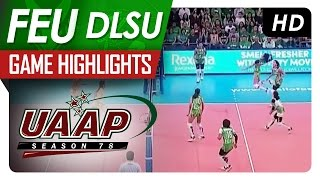 UAAP 78 WV: FEU vs DLSU Game Highlights - April 20, 2016