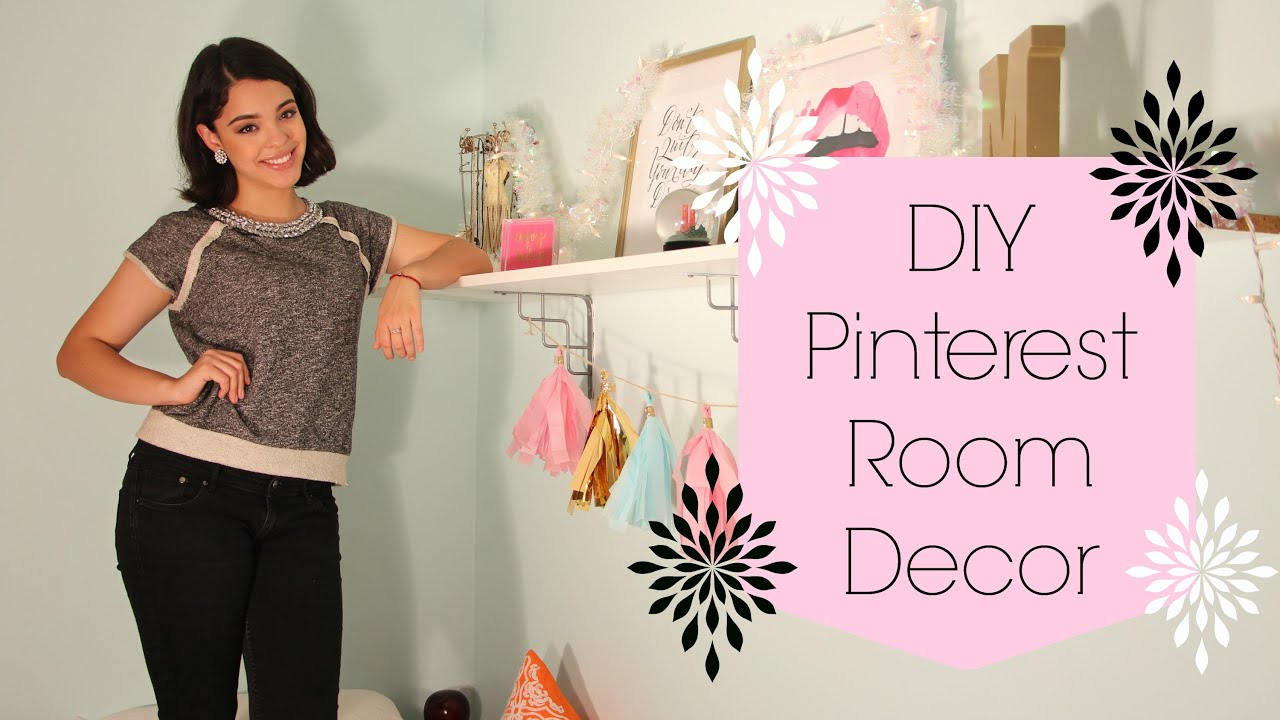 easy diy pinterest room decor bigapplebeauty youtube - Pinterest Room Decor