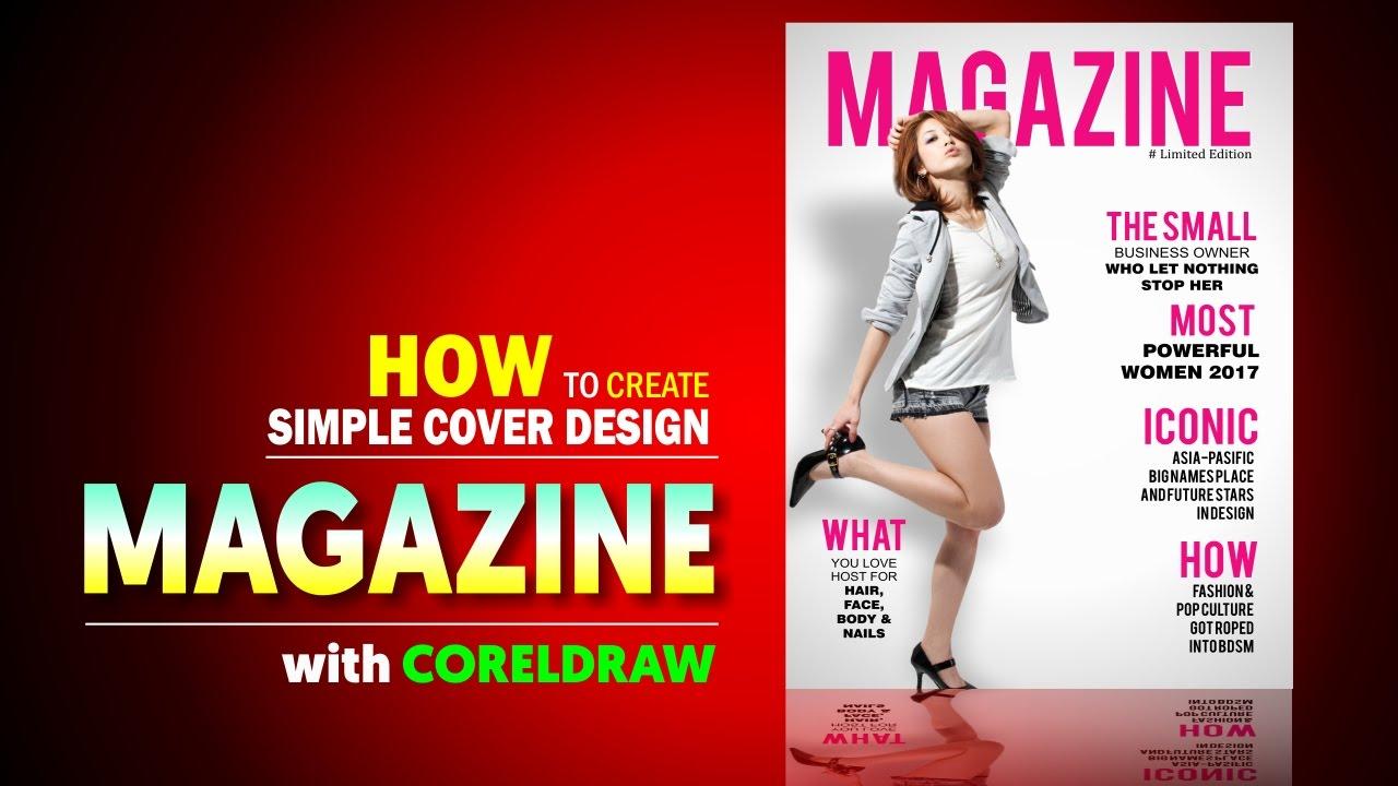 Corel Draw Book Cover Design Tutorial : Magazine design with corel draw create a cover in