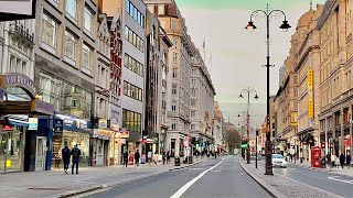 London Drive Central London City Of London During National Lockdown 2021
