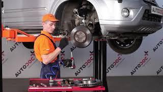 Como substituir os discos de travões dianteiros e as pastilhas de travão dianteiras no HONDA CR-V 2