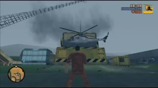 GTA 3 Helicopter VS car crusher