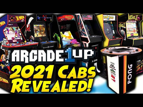 Arcade1Up 2021 Cabs Revealed! CES2021 X-Men, Dragon's Lair, Killer Instinct, Tempest & More! from Kongs-R-Us