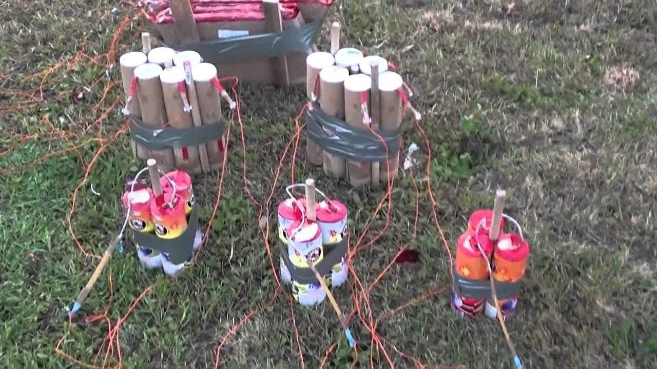 Setup Of Backyard Firework Show #2 2012