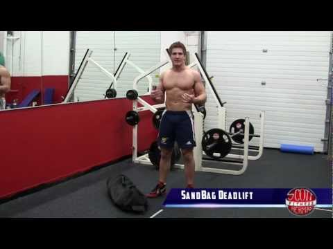 Sandbag Deadlift