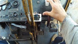 ДТ-75. Установка кнопки стартера и упаковка реле