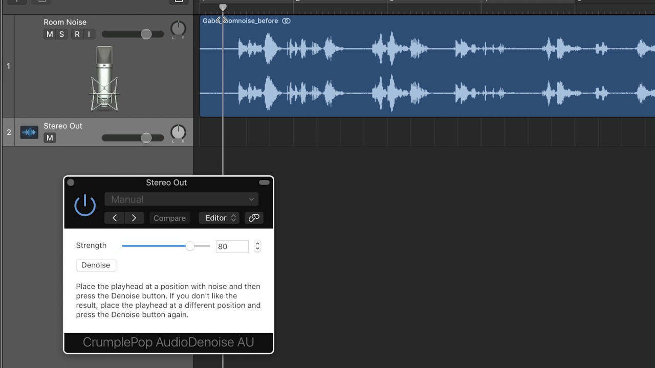 Remove Audio Noise in Logic Pro