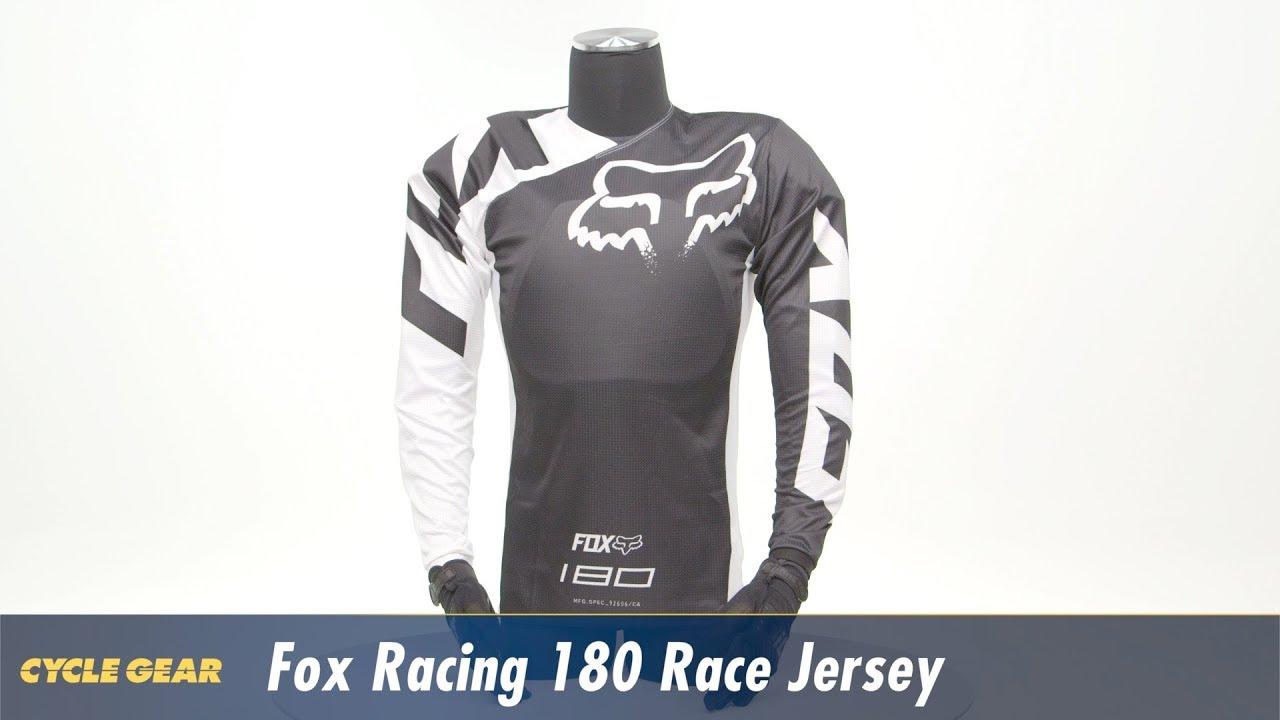 f243d5b41db Fox Racing 180 Race Jersey at CycleGear.com - YouTube