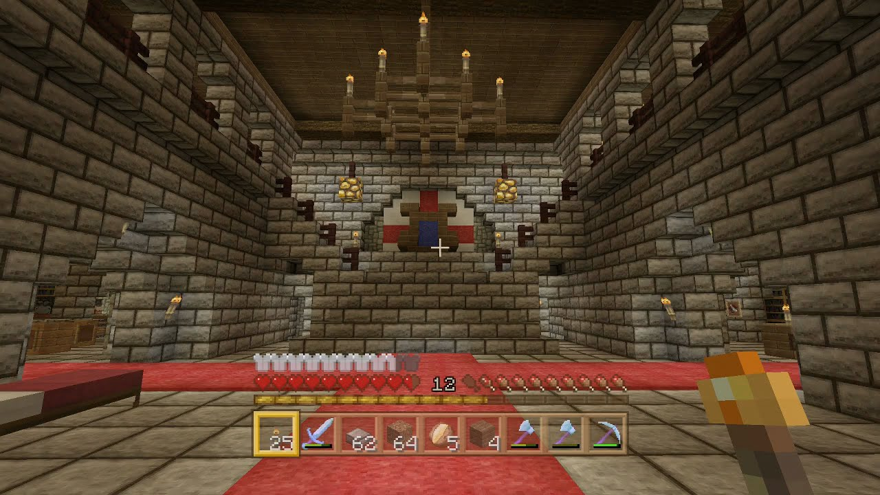 EP21 Minecraft Heavenandearth Medieval Castle KEEP Kitchen Throne Room PS4 XBOX