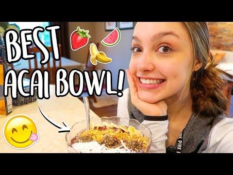Making the Best Acai Bowl Ever!! Sydney Serena Vlogs