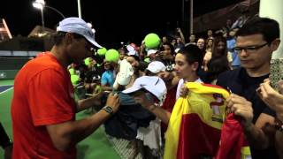 Nadal greets fans in Indian Wells - Tennis TV
