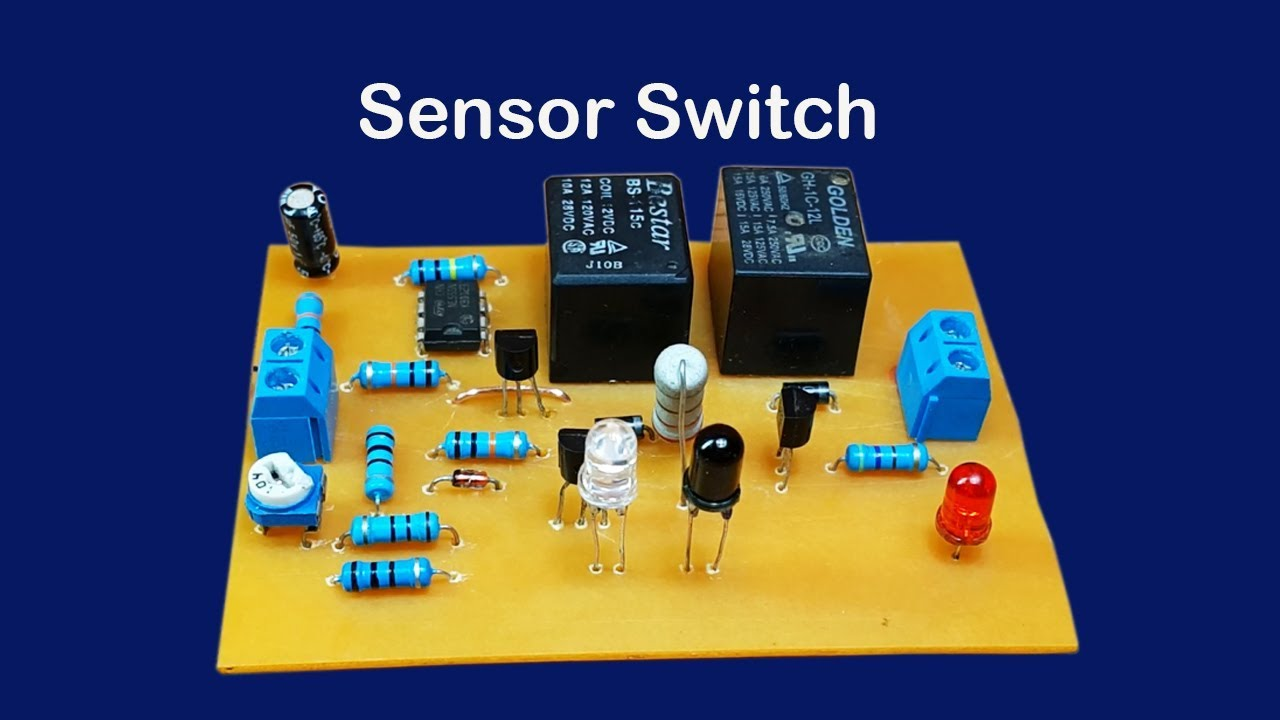 How to make sensor switch circuit - YouTube