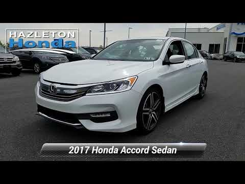 Certified 2017 Honda Accord Sedan Sport SE, Hazle Township, PA ZH2444