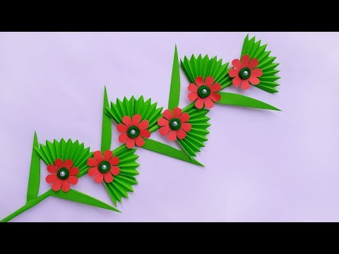 Diy Paper Flower Stick | How to Make Beautiful Paper Stick Flower | DIY Hand Craft Ideas for Room