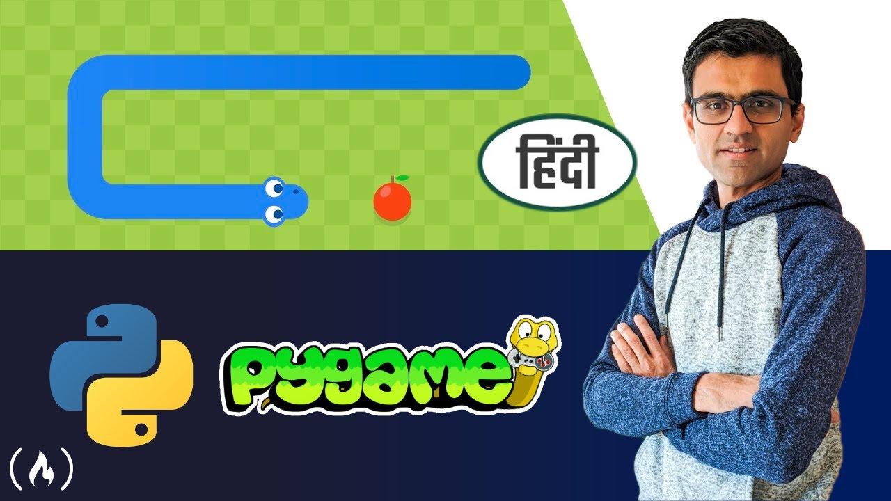 Snake Game in Python Pygame 🐍  [Hindi] - Tutorial