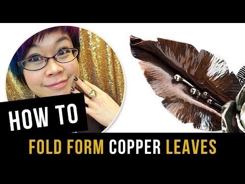 How to Fold Form Copper Leaves - Jewelry Making Tutorial