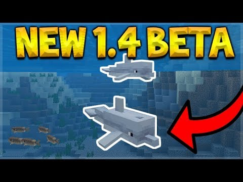MCPE 1.4 BETA - NEW DOLPHINS MOB ADDED TO THE GAME! (Aquatic Update)
